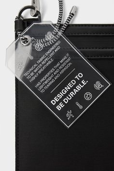 ZARA - Male - Black functional crossbody bag - Black - M Brand Packaging, Packaging Design, Branding Design, Clothing Packaging, Label Design, Hangtag Design, Graphic Design Layouts, Clothing Labels, Product Label