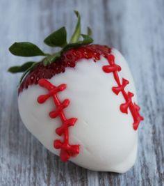 Baseball Dipped Strawberries