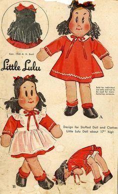 Doll Pattern Little LuLu 17 inch high 1940s