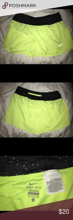 Nike Running Short neon nike running shorts, size small Nike Shorts