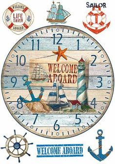 Сообщество любителей декупажа DCPG.ru Clock Craft, Diy Clock, Decoupage Vintage, Decoupage Paper, Clock Face Printable, Clock Template, Mushroom Crafts, Deco Marine, Images Vintage