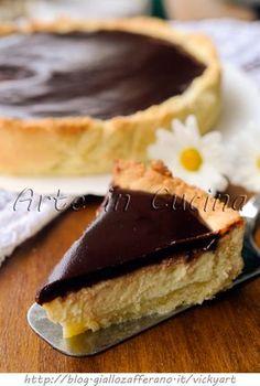 Torta Susanna di Parma frolla ricotta e cioccolato vickyart arte in cucina