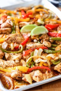 Sheet Pan Fajitas...this is SO good! It's healthy, low fat, low carb, Paleo and Whole30 compliant. It also feeds a crowd and provides leftovers for that boring old lunchbox.