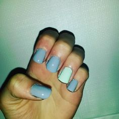 #nailart #nailpolish # #nails #naildesigns #polish #cutenails #nail #nailaddict #scra2ch #blue #mint #grey by sams_awesome_nails