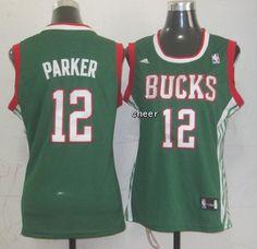 NBA Jerseys Milwaukee Bucks #12 Parker green Jerseys