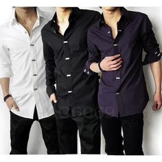 Mens Luxury Stylish Casual Dress Slim Fit Shirts | Fashion/Style ...