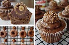 Ferrero-Rocher and Nutella Cupcakes