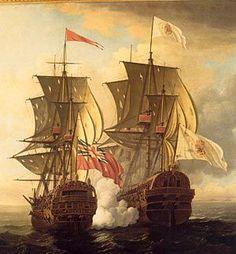 HMS Centurion y el galeón Nuestra Señora de Covadonga 1743