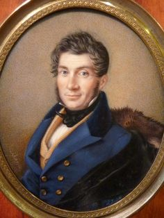 #Miniature on #ivory, #portrait of the Lawyer J.A. Corby, signed Bayla and dated 1834. For sale on #Proantic by DESARNAUD.
