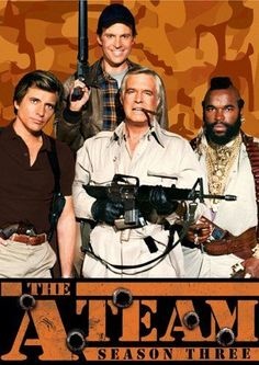 The A-Team is an American action-adventure television series, running from 1983 to about a fictional group of ex United States Army Special. 80 Tv Shows, Watch Tv Shows, Old Shows, Great Tv Shows, Movies And Tv Shows, The Ateam, Sean Leonard, Mejores Series Tv, Cinema Tv