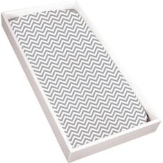 Kushies Bassinet Fitted Flannel Sheet, Grey Chevron, Gray