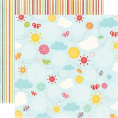 Echo Park - Hello Summer Collection - 12 x 12 Double Sided Paper - Butterfly Sky at Scrapbook.com $0.89