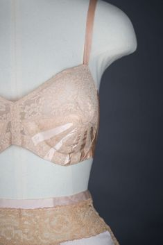 Sunburst Rayon And Lace Bra & Silk And Lace Ribbon Gusset Tap Pants Vintage Lingerie, Vintage Lace, Women Lingerie, Bullet Bra, Lace Ribbon, Lace Bra, Shapewear, Night Gown, 1930s
