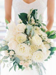 Lush ivory bouquet | Photography: Annie Parish Photography - www.annieparishphotography.com  Read More: http://www.stylemepretty.com/2015/05/20/elegant-tented-backyard-lake-forest-wedding/