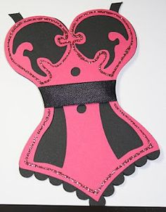 paper bustier card cute frauen karten pinterest. Black Bedroom Furniture Sets. Home Design Ideas