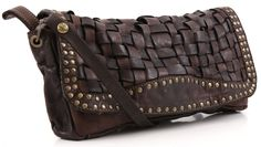 Campomaggi Lavata Evening Bag Leather dark-brown 30 cm - C1151VL-1701 - Designer Bags Shop - wardow.com