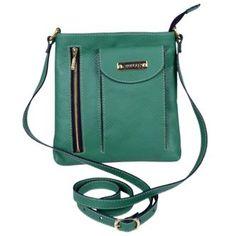 Bolsa Artlux Transversal VD8056 Verde Linda bolsa feminina transversal em couro, possui fechamento com zíper, dois bolsos frontais sendo um porta Iphone/Smartphone e um com zíper de metal. Ótima para todas as ocasiões