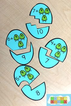 Counting On Addition Eggs Blue