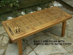 Game Table Cribbage Board  Coffee Table in Early by TheRightJack, $275.00 #etsysns