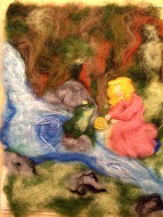 Dipinto in lana fiaba su feltro Il principe di CreazioniMonica