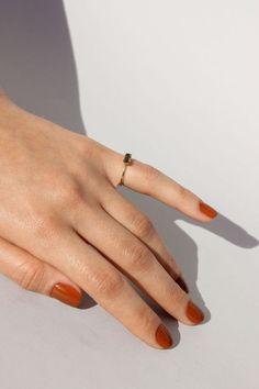 orange nails fall