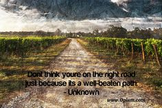 Just because it's a well-trodden path doesn't mean it's the right road. Say no to drugs!