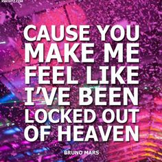 "BRUNO MARS  ""Locked Out Of Heaven"""