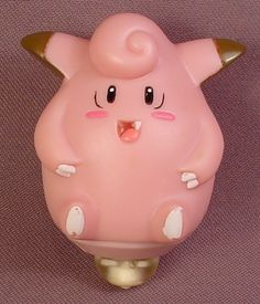 Pokemon Rev-Top Clefairy Figure, Spinning Top Toy, 2 3/4 Inches Tall, 1999 Burger King