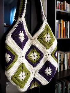 bags with granny squares - Google Search