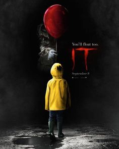 New teaser poster for #StephenKingsIt. #TheyAllFloat #YoullFloatToo #StephenKing #Pennywise #Clowns #Coulrophobia