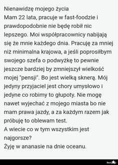BESTY.pl - Nienawidzę mojego życia Text Memes, Dankest Memes, Funny Memes, Wtf Funny, Hilarious, Malec, Cringe, Texts, Mood