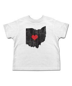 Another great find on #zulily! White Ohio Tee - Toddler & Kids #zulilyfinds