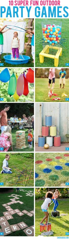 super fun outdoor party games Hosting an end of summer bash? Try one of these party games! They're great for kids, teens and adults.Hosting an end of summer bash? Try one of these party games! They're great for kids, teens and adults. Outdoor Party Games, Outdoor Fun, Backyard Games, Outdoor Twister, Luau Party Games, Party Games For Toddlers, Outside Party Games, Birthday Party Ideas For Teens, Luau Party Ideas For Kids