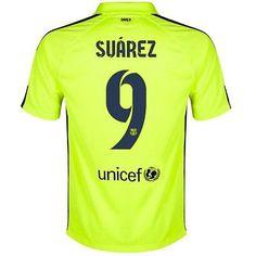 NIKE LUIS SUAREZ FC BARCELONA THIRD 3RD JERSEY 2014 15 Volt Loyal Blue  Barcelona a296660a26ec8