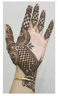 Engagement Mehndi Design 2019 Mehndi henna designs are always searchable by Pakistani women and girls. Women, girls and also kids apply henna on their hands, feet and also on neck to look more gorgeous and traditional. Henna Hand Designs, Dulhan Mehndi Designs, Mehendi, Mehndi Designs Finger, Basic Mehndi Designs, Mehndi Designs For Beginners, Mehndi Designs For Girls, Wedding Mehndi Designs, Mehndi Designs For Fingers