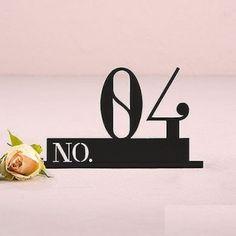 numero de table chiffre acrylique noir
