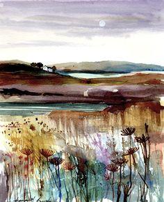 Wee Cottage - watercolour landscape #watercolor jd