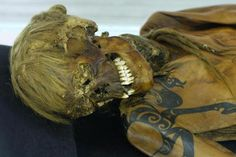 Princess of Ukok mummy with tatoos. 5th century BC, kurgan of the Pazyryk culture in Republic of Altai, Russia. [674x449]