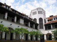 Lawang Sewu, railway museum at Semarang, Middle Java. At this building, colonialism begin at Indonesia.
