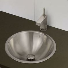 DECOLAV, Simply Stainless Drop-in Bathroom Sink in Brushed Stainless-Steel, 1220-B at The Home Depot - Mobile
