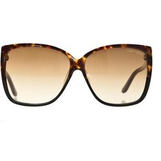 Tom Ford Lydia Havana Oversize Sunglasses (€275) found on Polyvore