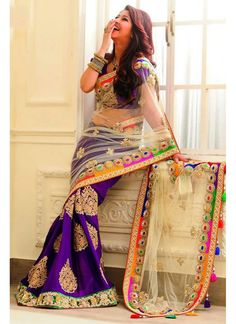 New Latest Designer Royal Blue Jaipuri #Saree @http://www.maalpani.com/latest-arrivals.html