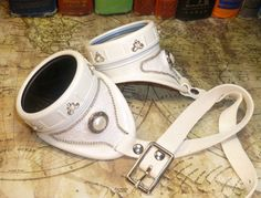 Love that these are white :)    Steampunk goggles white wedding Victorian filigree,lace & pearls. $48.00, via Etsy. Pearl And Lace, Pearl White, White Lace, Steampunk Goggles, Victorian Lace, Victorian Steampunk, Steampunk Accessories, Steampunk Wedding, Lace Inset