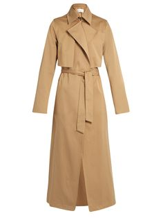 COTTON-GABARDINE TRENCH COAT #style #fashion #trend #onlineshop #shoptagr