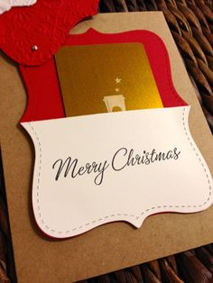 Handmade Stampin Up Christmas gift card by shopHatcherHandmade, $3.00