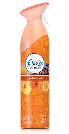 Escape to the Pacific Islands with the lush, tropical, odor-eliminating scent of this Febreze Air Effects, Hawaiian Aloha air freshener spray. Cleaning Hacks, Cleaning Supplies, Cleaning Products, Febreze, Bad Room Ideas, Linen Spray, Car Air Freshener, Odor Eliminator, Washing Machine