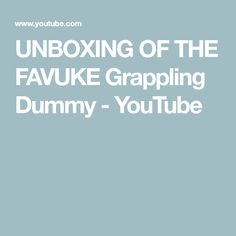 UNBOXING OF THE FAVUKE Grappling Dummy - YouTube Grappling with Insanity PBJJ Grappling Dummy, Fill, Ads, Youtube, Youtubers, Youtube Movies