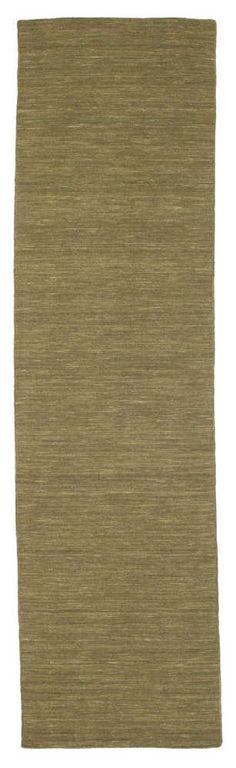 Kelim loom - Olivengrønn teppe CVD8870