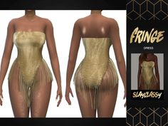 SlayClassy - Fringe Dress - The Sims 4 Download - SimsDom