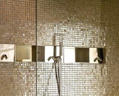 Gold Faucet, Mosaic Bathroom, Wall Lights, Ceiling Lights, Interior Exterior, Black House, Dream Bedroom, Garden Furniture, Interior Decorating